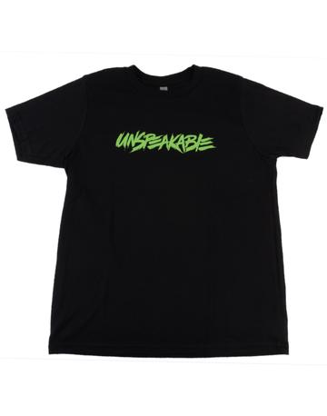 Black T-Shirt With Neon Green Font