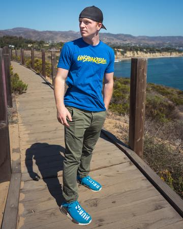 Royal Blue T-Shirt With Yellow Font 1