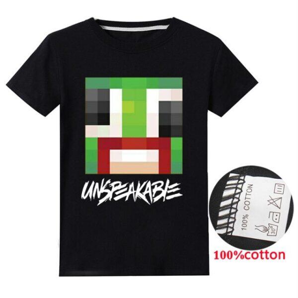2021-Summer-Unspeakable-Inspired-Youtube-Boys-T-Shirts-Gaming-Kids-sweatshirt-T-Shirt-For-qrtGirls-Tops