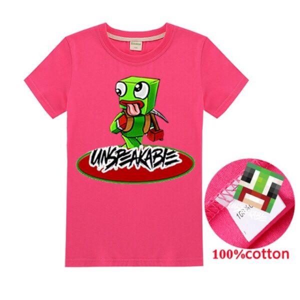 New-2020-Unspeakable-Inspired-T-Shirt-Youtube-Gaming-Vlog-Kids-oiusweatshirt-Children-T-Shirt-Girl-Tops
