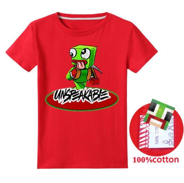 New-2020-Unspeakable-Inspired-T-Shirt-Youtube-Gaming-Vlog-Kids-sweatshirt-Children-T-Shirt-Girl-Tops