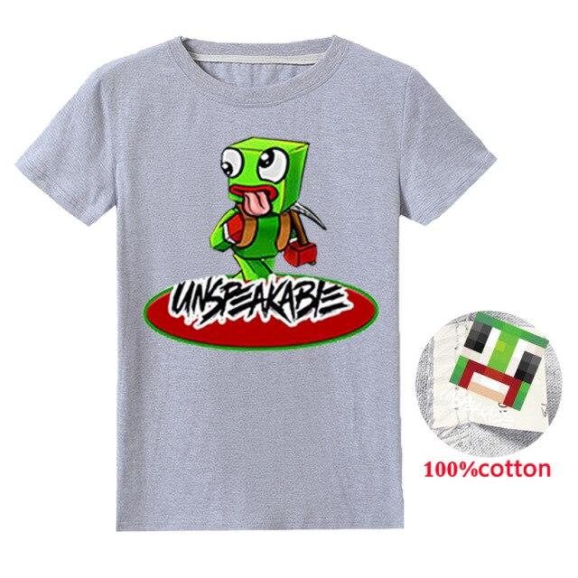 New-2020-Unspeakable-Inspired-T-Shirt-Youtube-Gaming-Vlog-Kids-sweatshirt-lkjChildren-T-Shirt-Girl-Tops