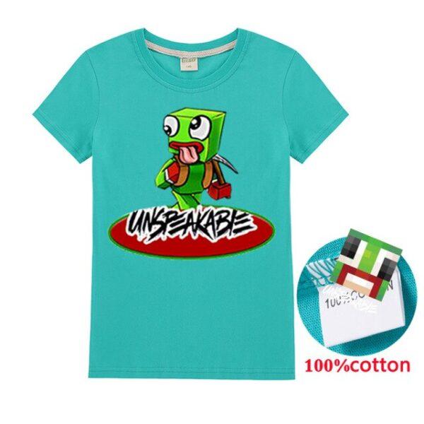 New-2020-Unspeakable-Inspired-T-Shirt-Youtube-Gaming-sssVlog-Kids-sweatshirt-Children-T-Shirt-Girl-Tops