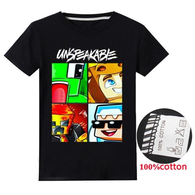 New-Summer-Unspeakable-Boy-T-shirtadf-Kids-Sweatshirt-Kids-T-shirt-Girls-Unspeakable-Top-T-shirt