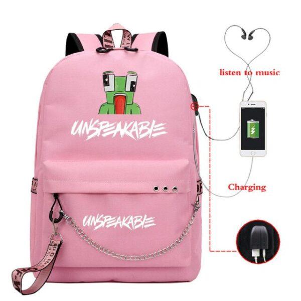 UNSPEAKABLE-Mochila-USB-Backpack-Girls-Boys-Teenager-School-Bag-Women-USB-aaCharge-Travel-Rucksack-Capacity-Laptop