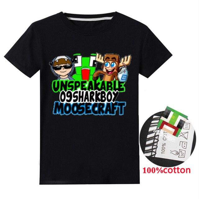blue-Summer-Unspeakable-Inspired-Youtube-Boys-T-Shirts-Gaming-Kids-sersweatshirt-T-Shirt-For-Girls-Tops